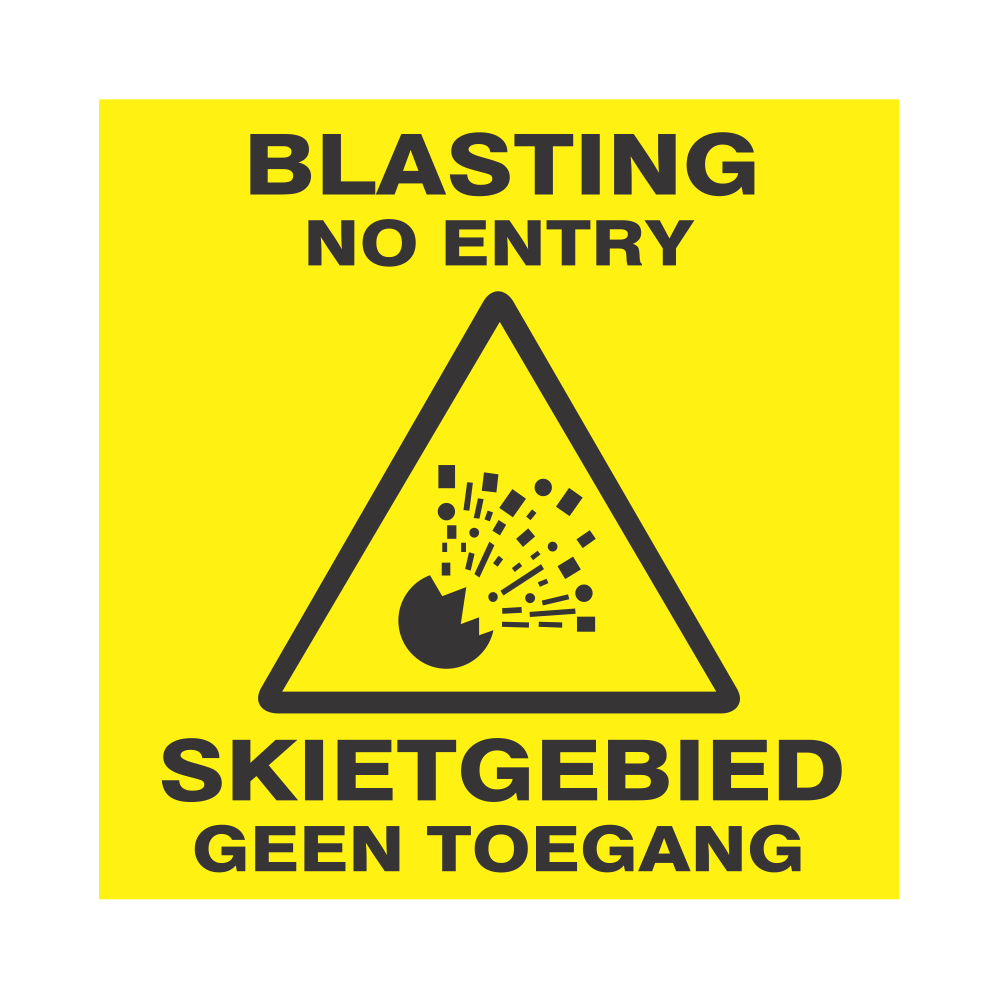 Blasting No Entry Safety Sign