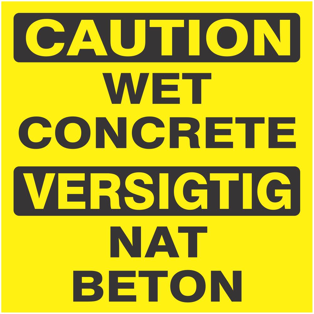 Caution : wet concrete
