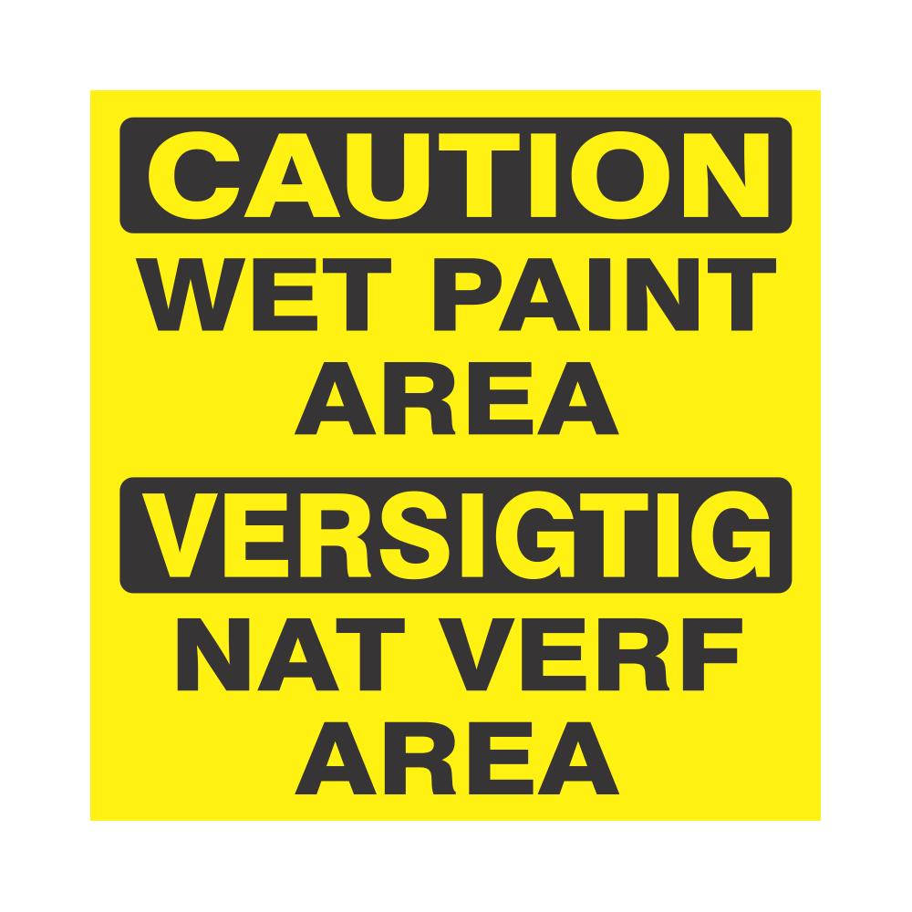Caution : Wet Paint Area