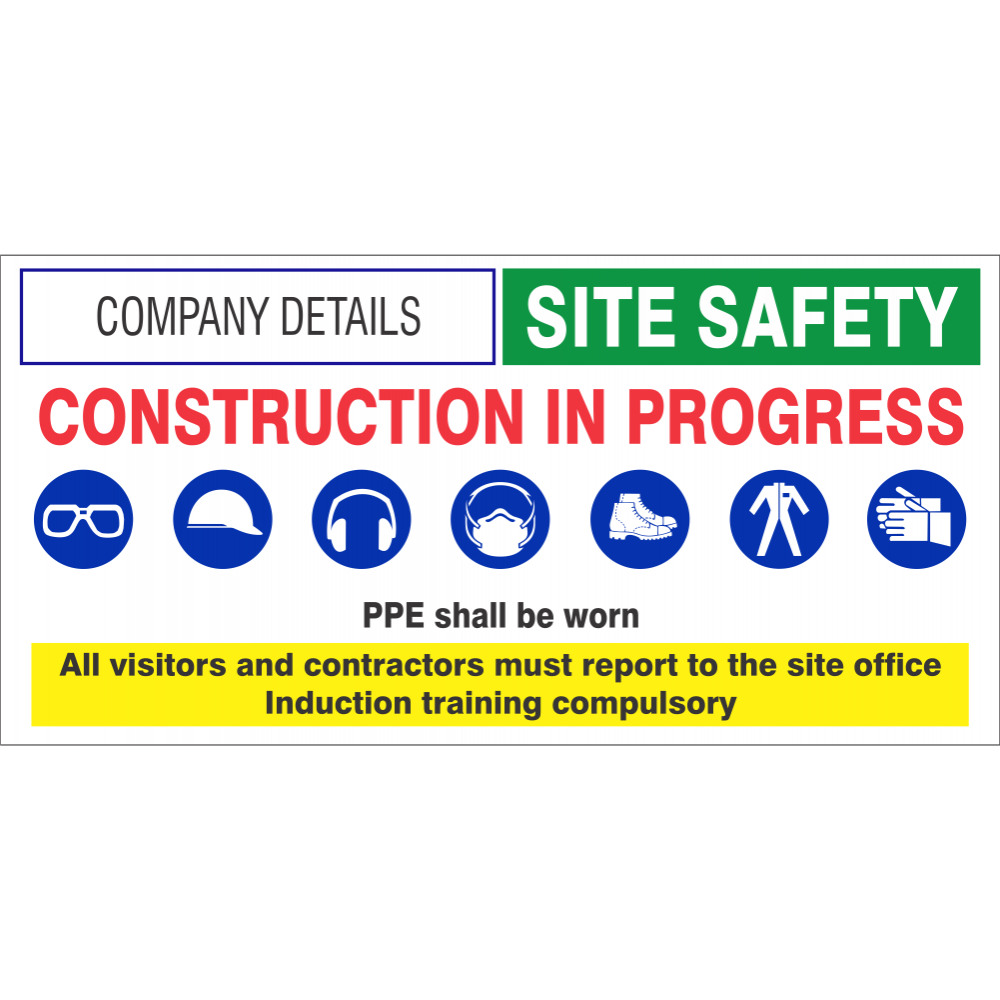 Construction in progress Safety Sign