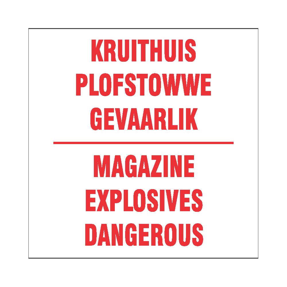 Magazine Explosives Dangerous
