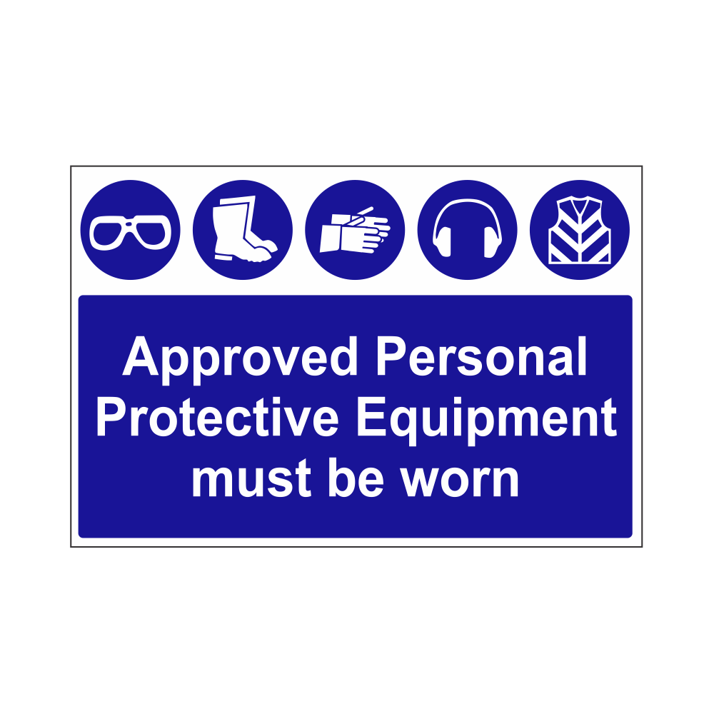 Required PPE Safety Sign