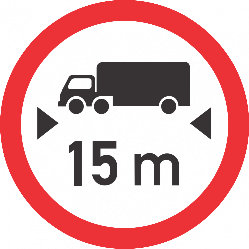 Length Limit Safety Sign