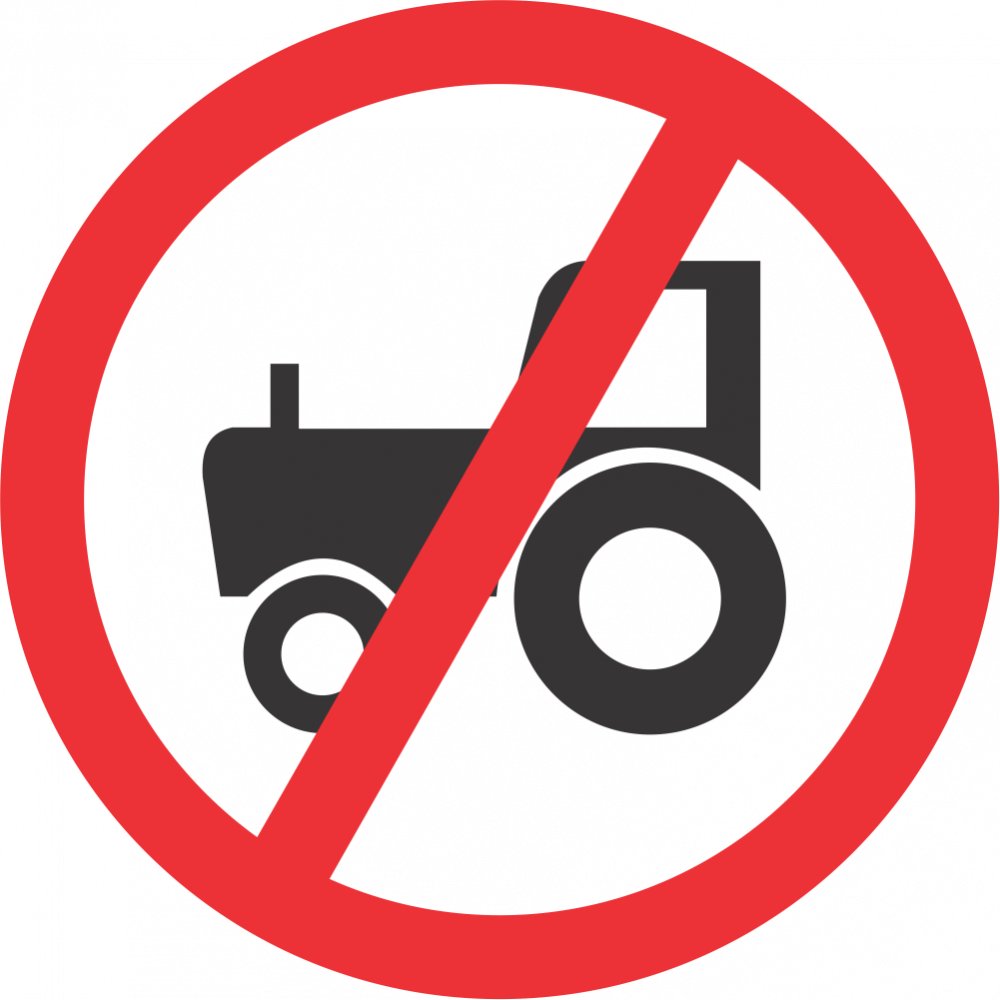 No Agricultural Vehicles