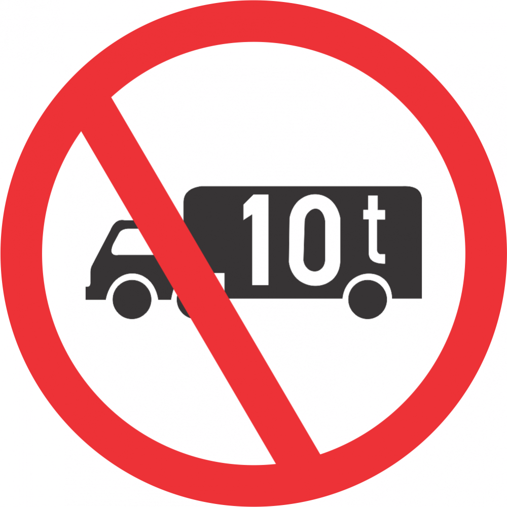 No Goods Vehicles Over Indicated GVM