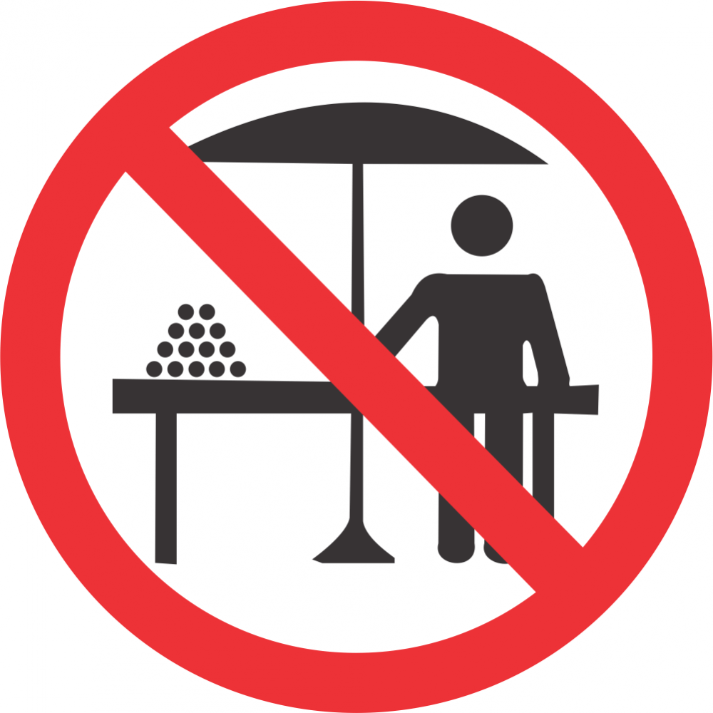 No Hawkers Safety Sign