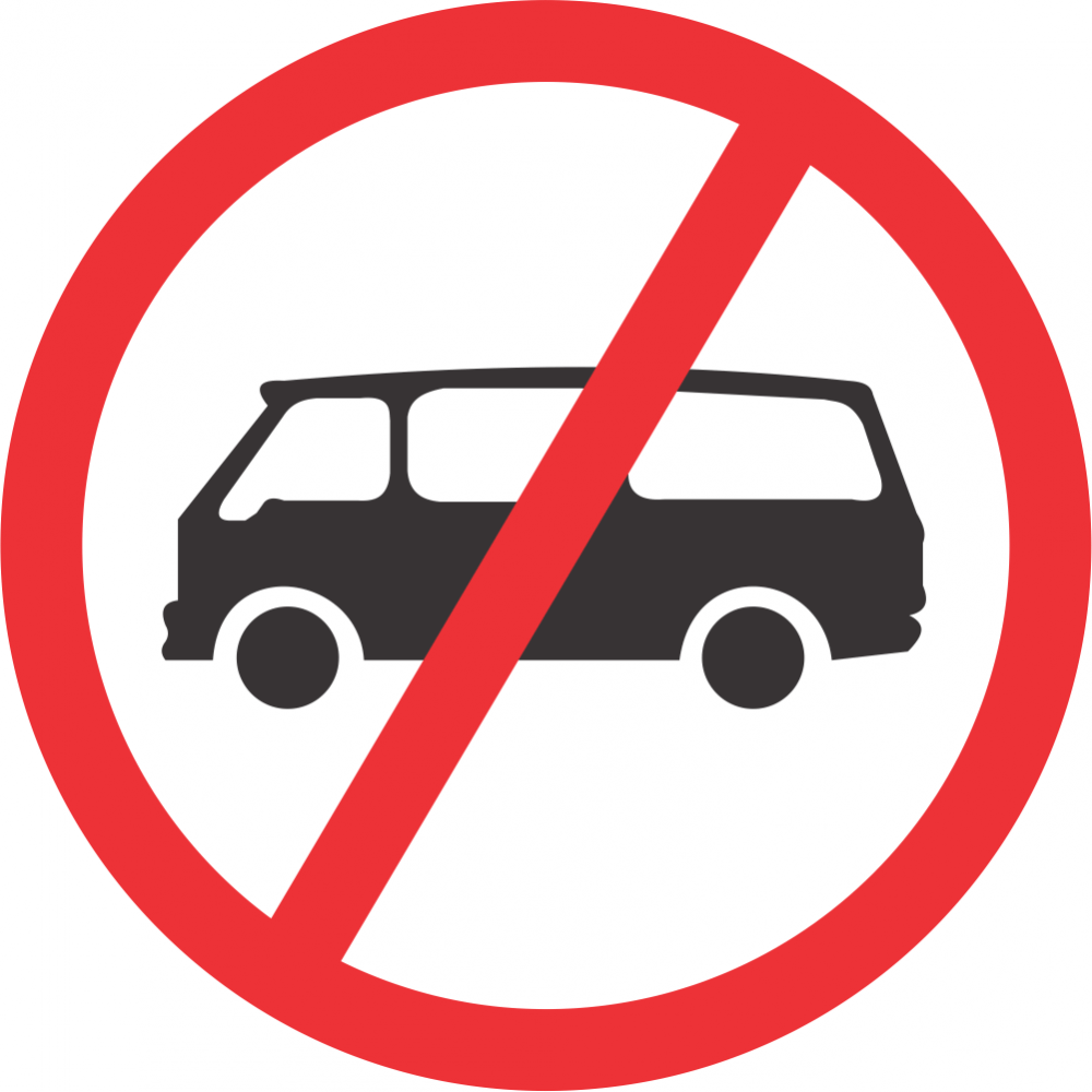 No Mini-Buses Safety Sign