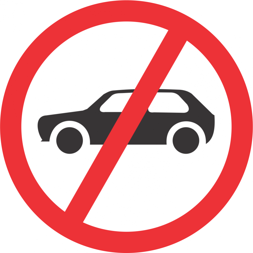 No Motor Cars Safety Sign