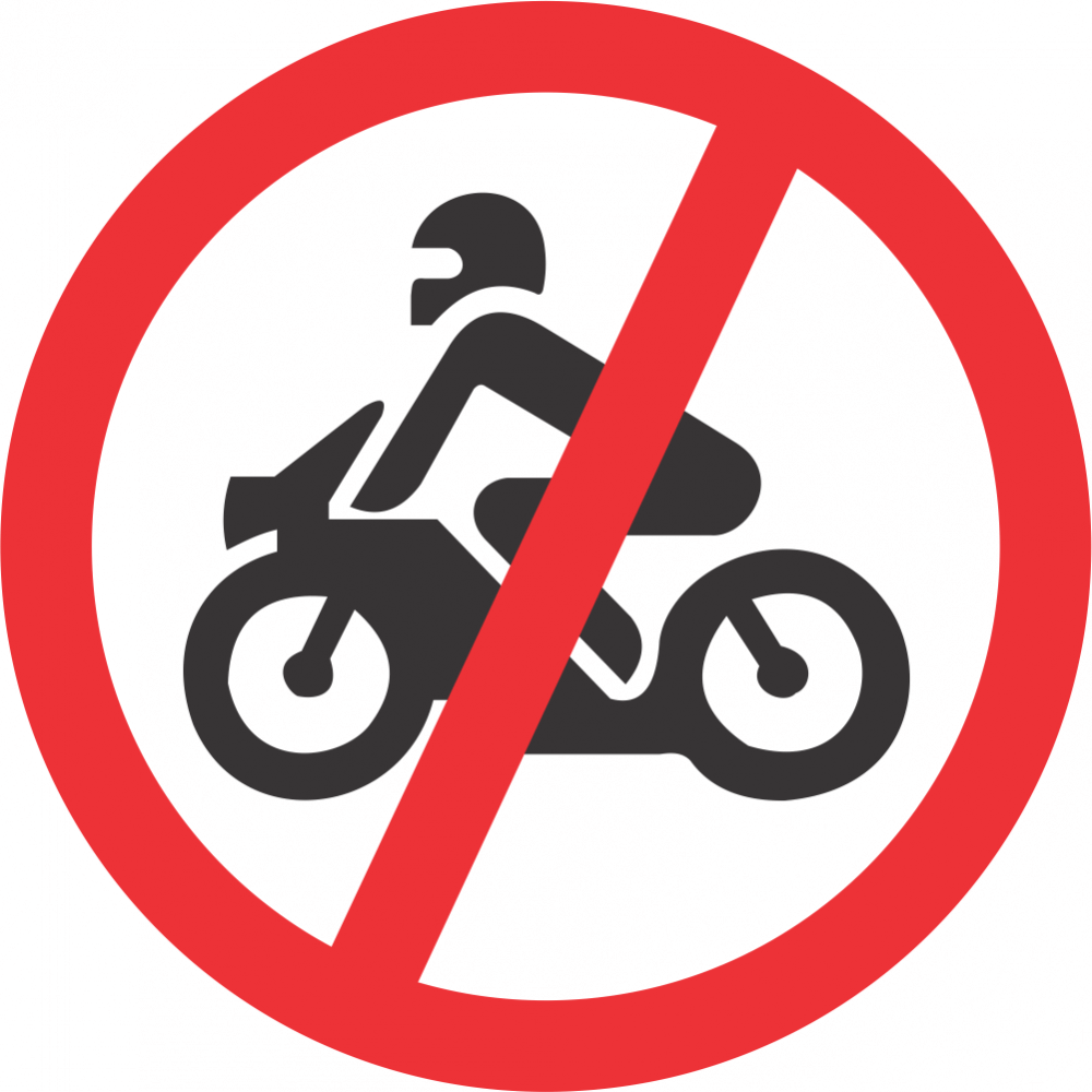No Motorcycles Safety Sign