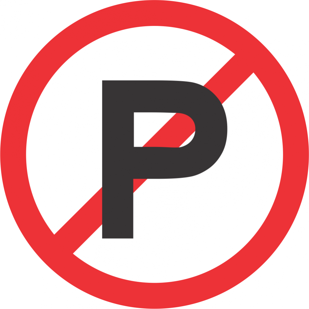 No Parking Safety Sign