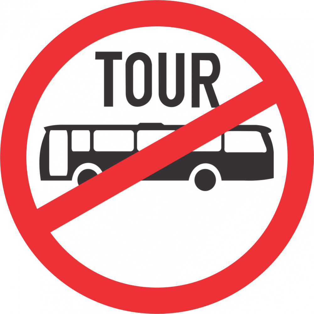No Tour Buses Safety Sign
