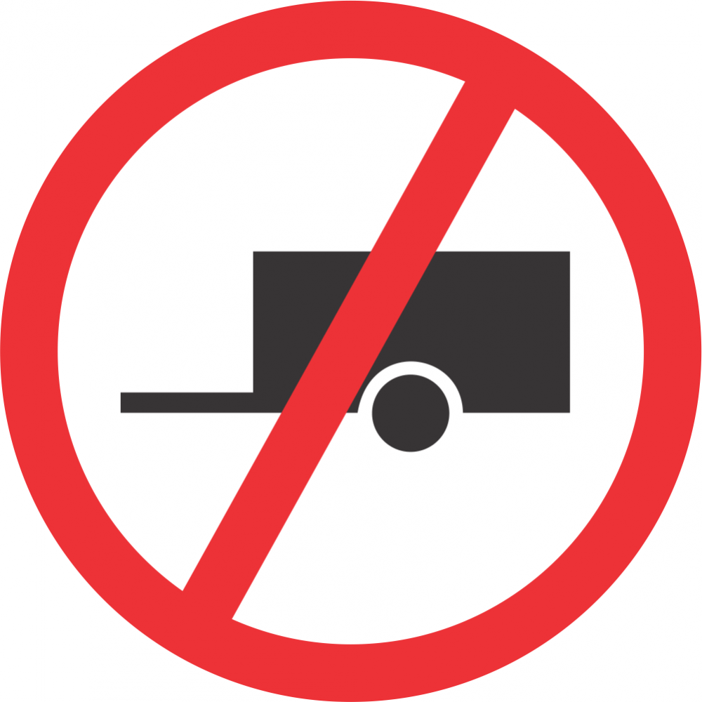 No Towed Vehicles Safety Sign