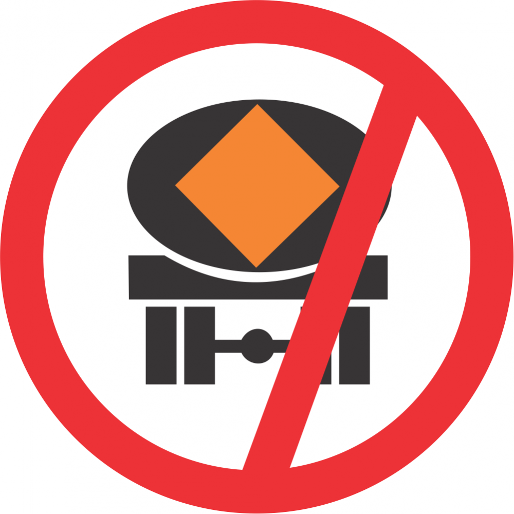 No Vehicles Conveying Dangerous Goods