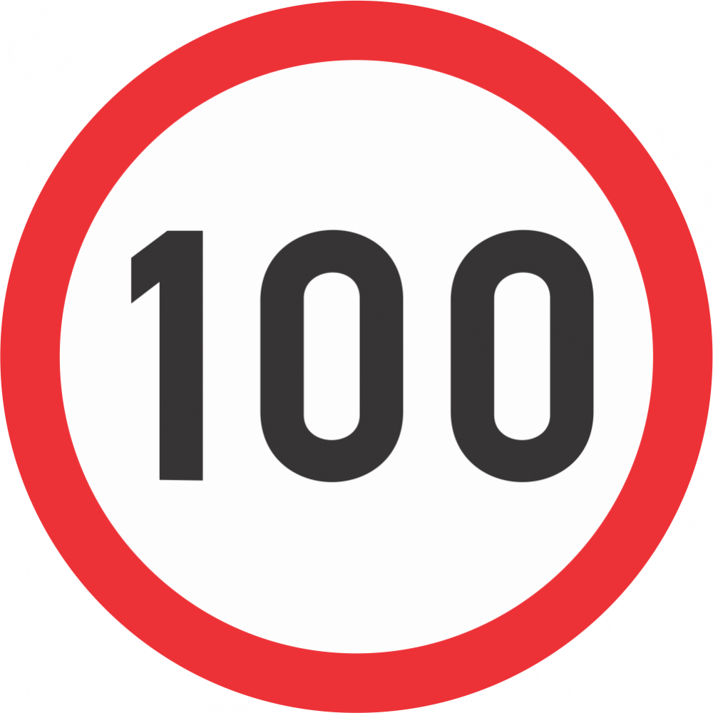 Speed Limit Safety Sign