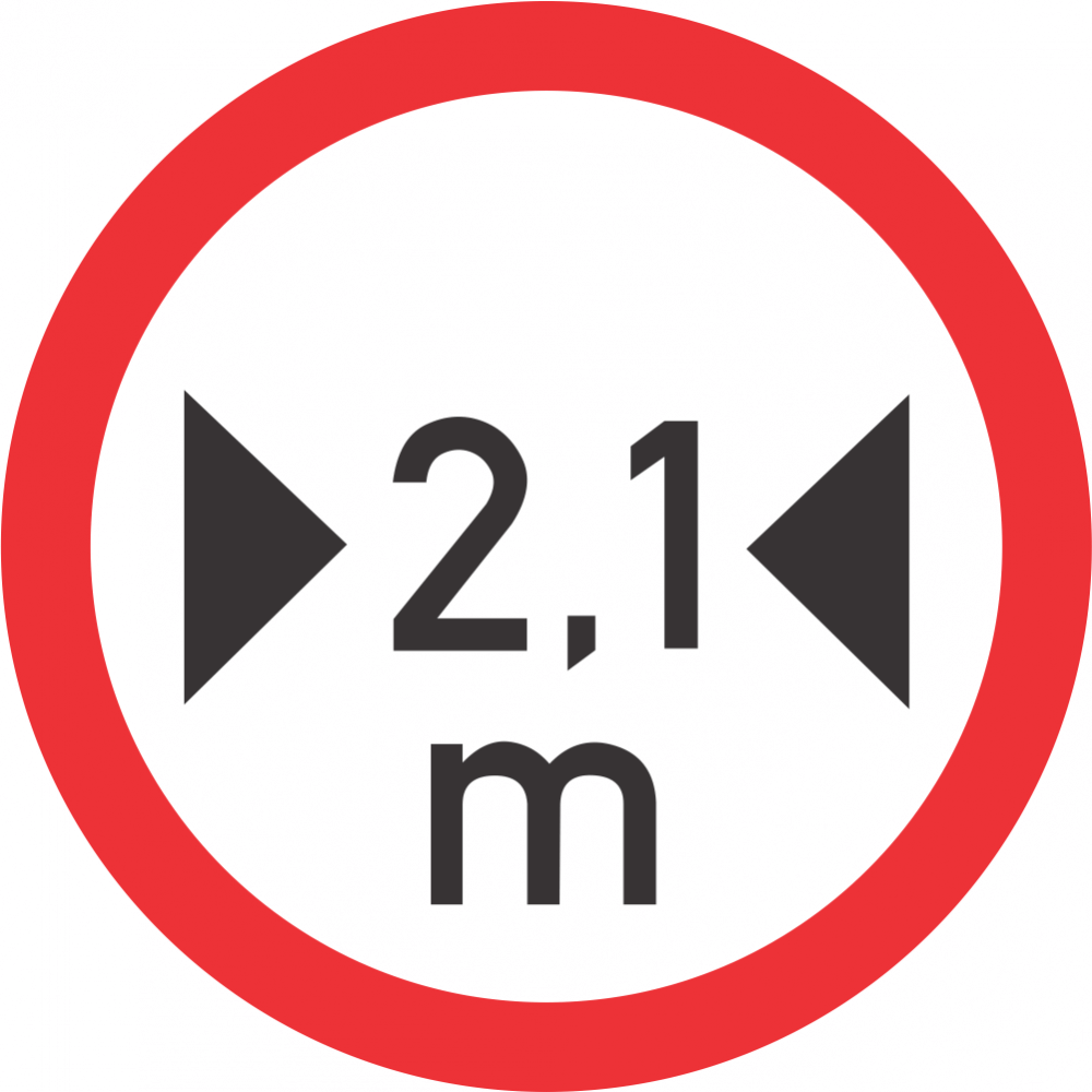 Width Limit Safety Sign