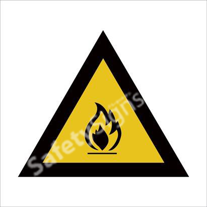 Fire hazard safety sign