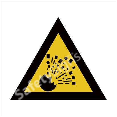 Warning of Explosion Safety Sign