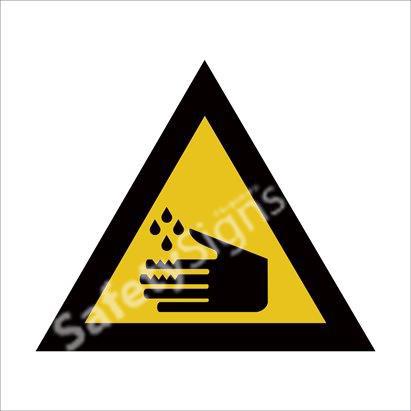 Warning of Corrosive Hazard Safety Sign