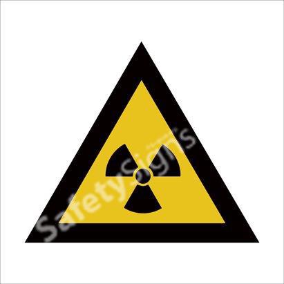 Warning of Ionizing Radiation Hazard Safety Sign
