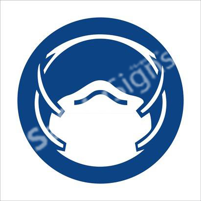 Dust Mask Shall Be Worn Safety Sign