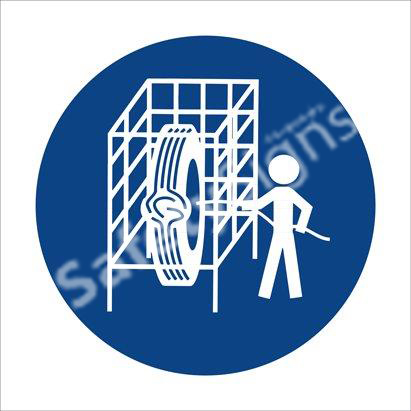 Safety Cage Shall Be Used