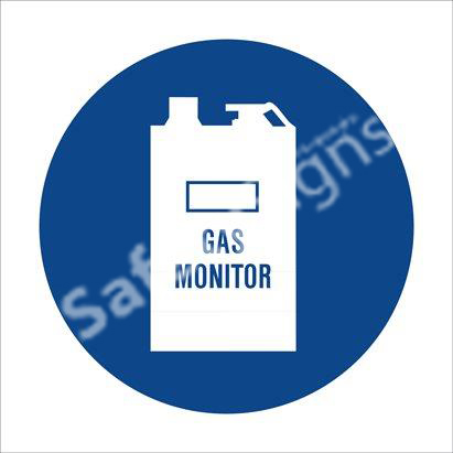 Carbon Monoxide Gas Moniotor Shall Be Worn Safety Sign