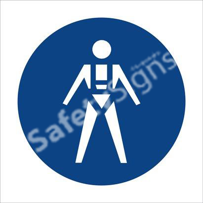 Full Body Harness & Lifelines Shall Be Worn Safety Sign
