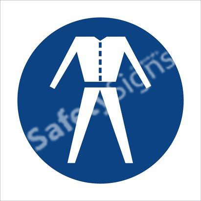 Overalls Shall Be Worn Safety Sign