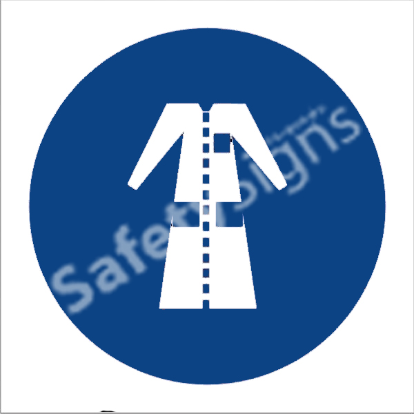 Lab Coats Shall Be Worn Safety Sign