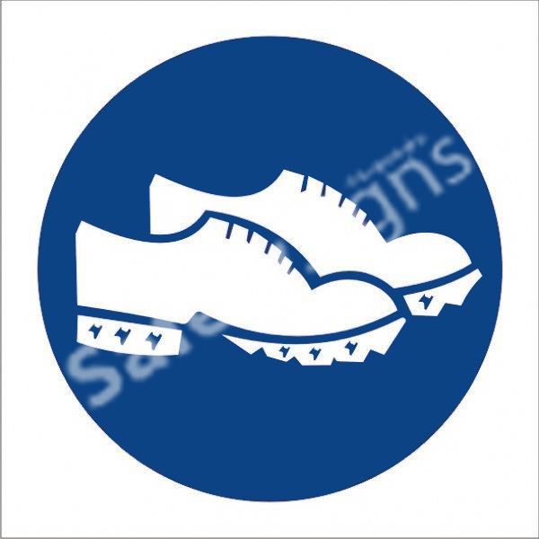 Conductive Shoes Shall Be Worn Safety Sign
