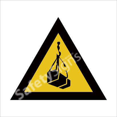Warning of Suspended Loads Hazard Safety Sign