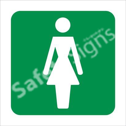 Ladies Toilet Safety Sign