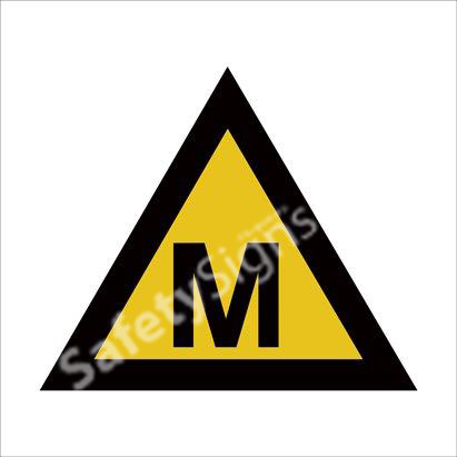Warning of Methane Hazard Safety Sign
