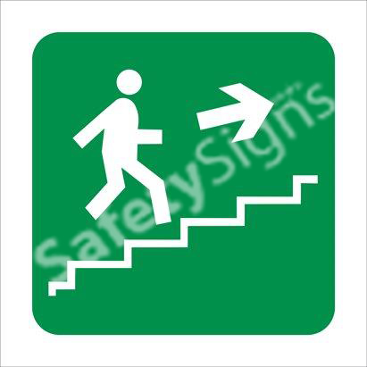 Stairs Going Up Safety Sign