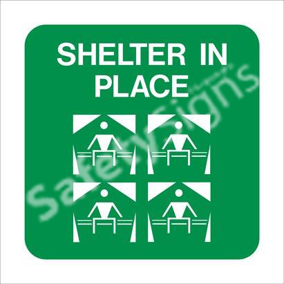 Shelter in Place Safety Sign