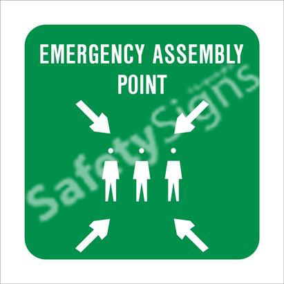 Emergency Assembly Point Safety Sign