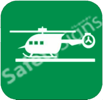 Helicopter Pad Safety Sign