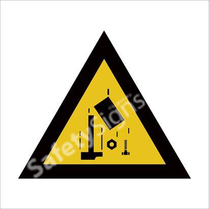 Warninig of Workers Overhead  Safety Sign