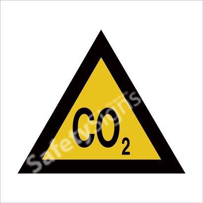 Warning of Carbon Dioxide Hazard Safety Sign