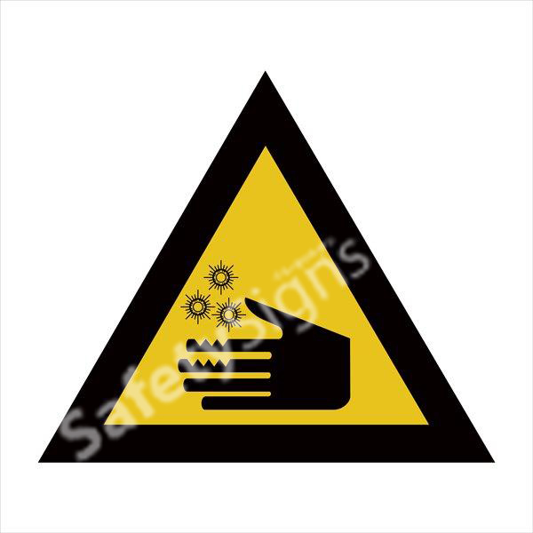 Warning of Cold Burns Safety Sign