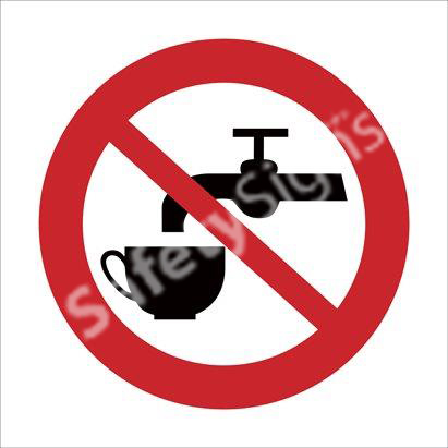 Drinking of Water Prohibited