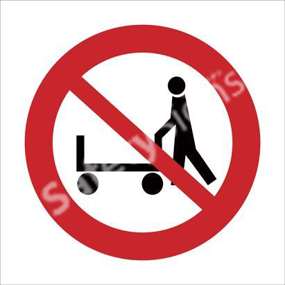 Hand Trolleys Prohibited Safety Sign