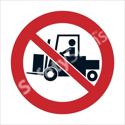 Tractors and Forklifts Prohibited Beyond this Point Safety Sign