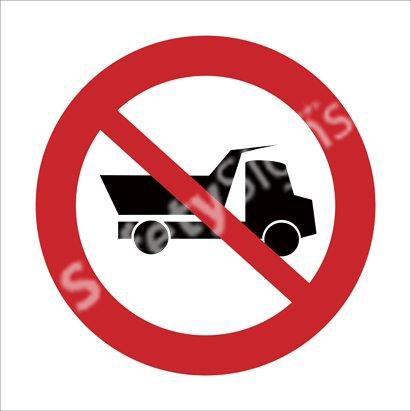 No Entry for Heavy Vehicles Safety Sign