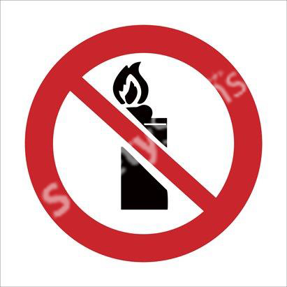 Lighters & Open Flame Prohibited Safety Sign