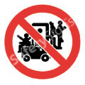 Lifting on Forklifts Prohibited Safety Sign