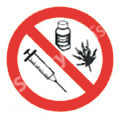 Drugs Prohibited Safety Sign