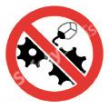 Do Not Clean or Oill While in Motion Safety Sign
