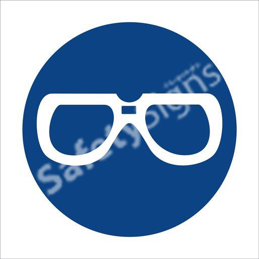 Eye Protection Shall Be Worn Safety Sign
