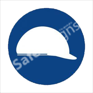 Head Protection Shall Be Worn Safety Sign